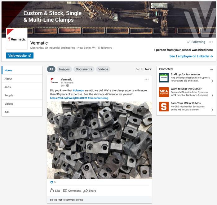 Vermatic's LinkedIn Profile