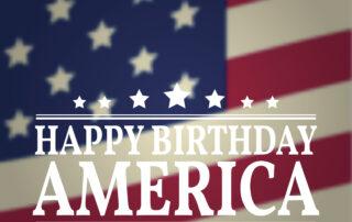 Happy Birthday America. Vector illustration.
